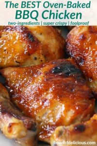 pinterest image for bbq chicken