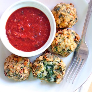 Oven-Baked Spinach and Barley Arancini (Italian Rice Balls)