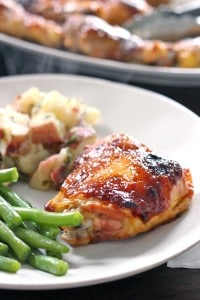 Two Ingredient Crispy Oven Baked BBQ Chicken 3