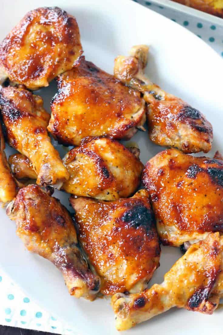 Two Ingredient Crispy Oven BBQ Chicken