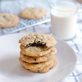 Salted Almond Chocolate Chunk Cookies
