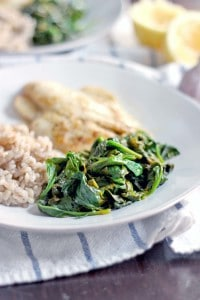 5-Minute Sauteed Spinach with Garlic and Lemon 3