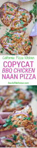 Easy BBQ Chicken Naan Pizza