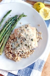 Garlic Poached Salmon with Creamy Lemon Caper Sauce 2