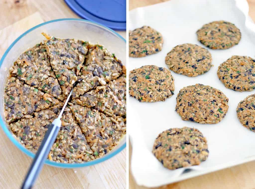 Sweet Potato and Black Bean Veggie Burgers   These veggie burgers are full of flavor and amazingly healthy. They have a great texture and they hold up well when you bake them without being dry or mushy! And they are SO easy to make!