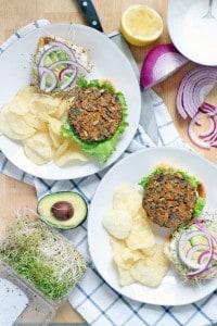 Sweet Potato and Black Bean Veggie Burgers 2