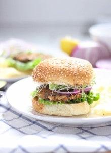 Sweet Potato and Black Bean Veggie Burgers 3