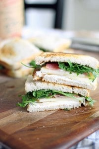 Apple and Prosciutto Sandwich with Goat Cheese and Arugula 2