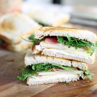 Apple and Prosciutto Sandwich with Goat Cheese and Arugula