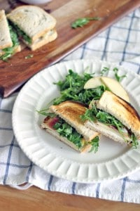 Apple and Prosciutto Sandwich with Goat Cheese and Arugula 3