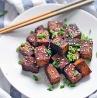 Pan-Seared Soy Sauce and Black Pepper Tofu