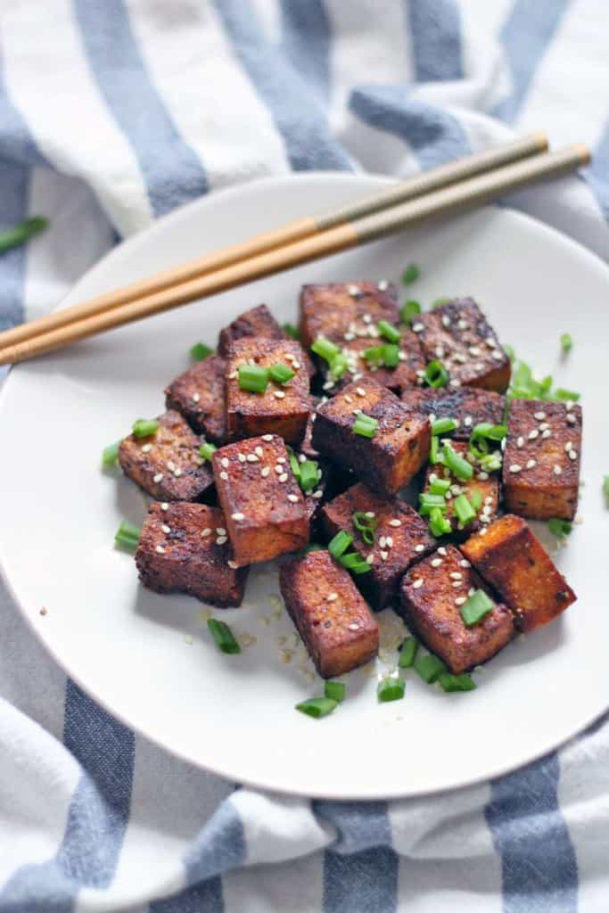 Pan Seared Soy Sauce and Black Pepper Tofu | Bowl of Delicious