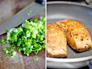 Salmon with Scallion Butter 1