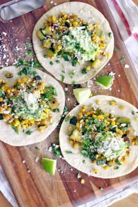 Zucchini and Corn Tacos with Fresh Guacamole 1