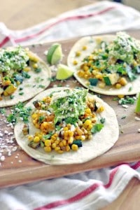 Zucchini and Corn Tacos with Fresh Guacamole 2