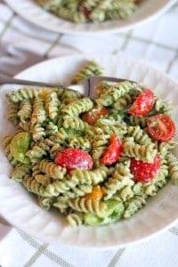 Four Ingredient Pesto Pasta Salad 1