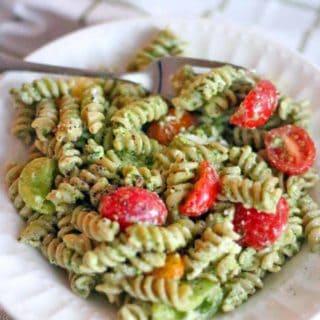 Four Ingredient Pesto Pasta Salad