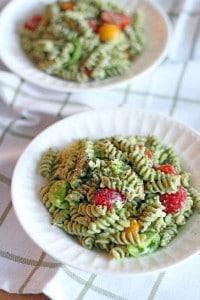 Four Ingredient Pesto Pasta Salad 3