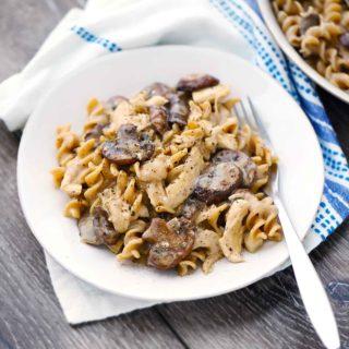 Healthy 20-Minute Chicken and Mushroom Stroganoff