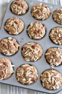 Whole Wheat Banana Oat and Toasted Nut Muffins 1