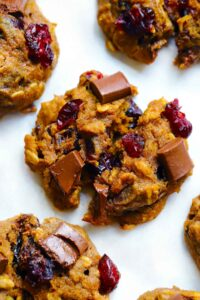 Dark Chocolate and Cranberry Pumpkin Oatmeal Cookies 3