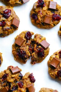 Dark Chocolate and Cranberry Pumpkin Oatmeal Cookies 4