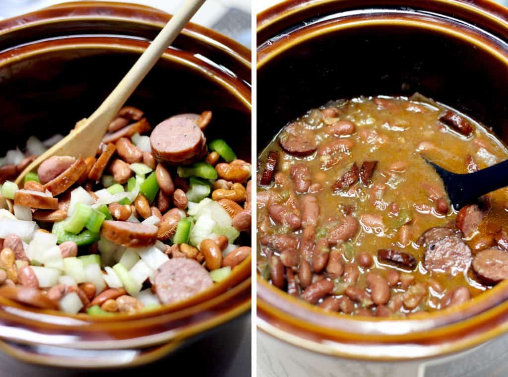Perfectly creamy, smoky, and savory, these slow cooked red beans taste just like you'd find in New Orleans and are inexpensive and easy to make!