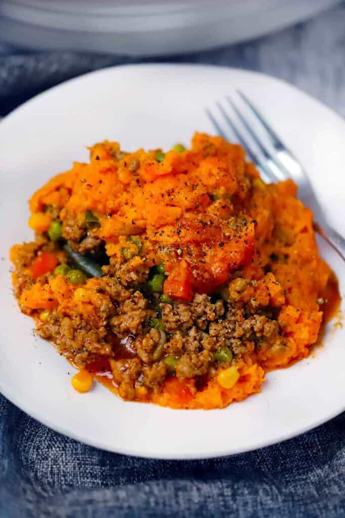 Sweet Potato and Turkey Shepherd's Pie   Bowl of Delicious