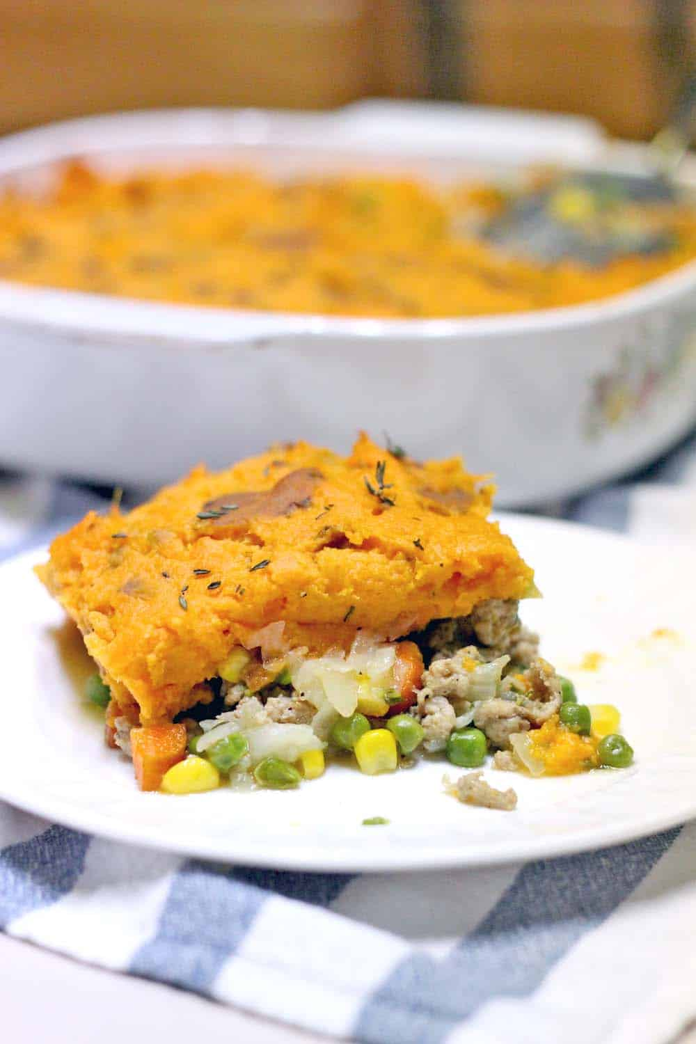 This shepherd's pie is the ultimate comfort food: simpler and easier to make than a traditional one, and healthier with sweet potatoes and ground turkey.