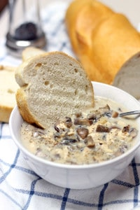 Creamy Mushroom, Chicken, and Wild Rice Soup 1