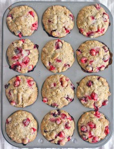 Whole Wheat Cranberry Ginger Pecan Muffins 1