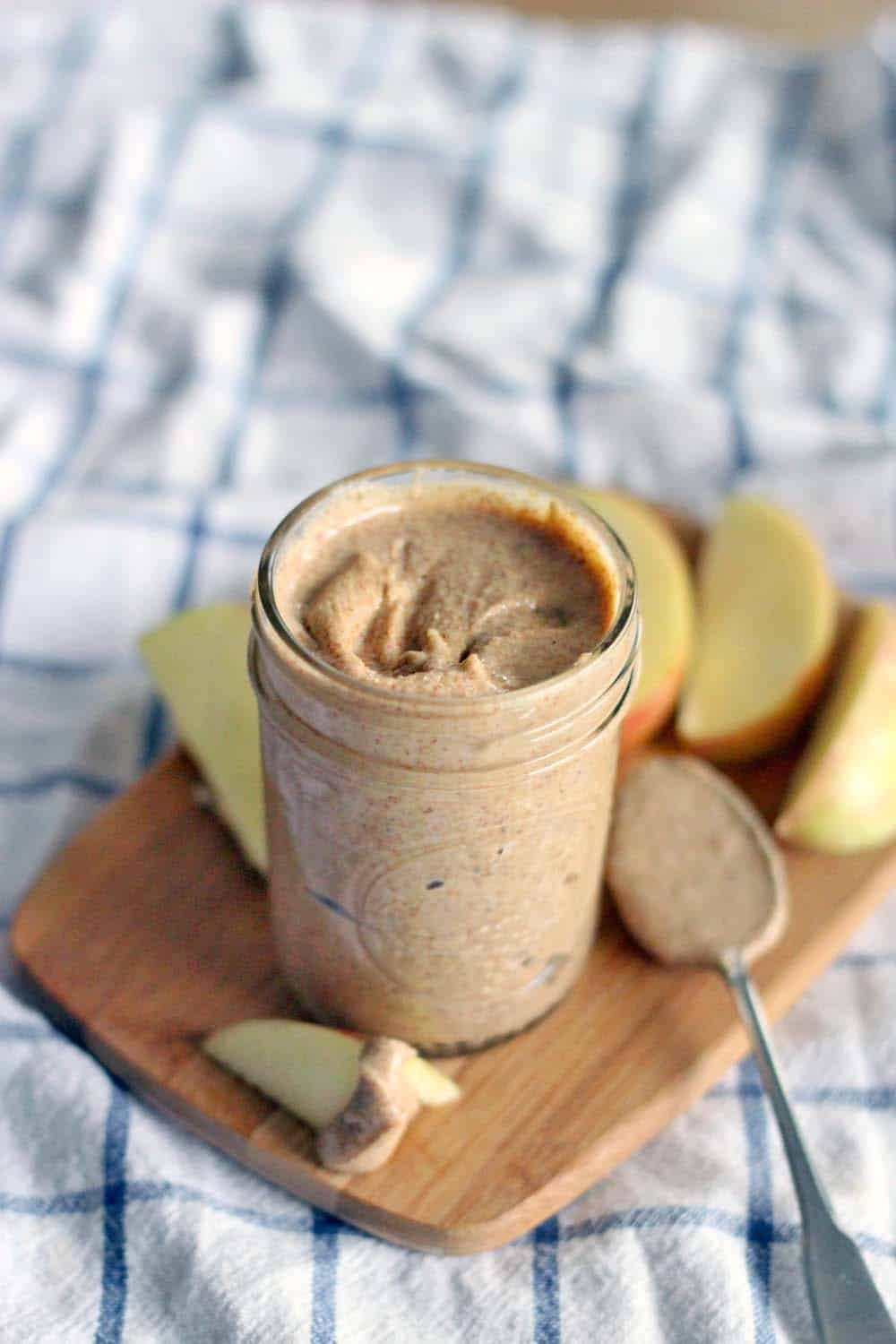 Making your own almond butter is easy, heathy, and cheaper than buying it already made! All you need is ONE ingredient and a food processor! A great Whole30 and Paleo snack.