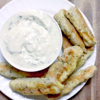 Homemade Frozen Fish Sticks with Tartar Sauce (and Whole30 update!)