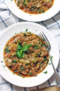Spicy Slow Cooker Stuffed Cabbage Casserole 2
