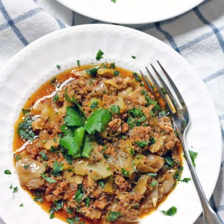 Slow Cooker Spicy Stuffed Cabbage Casserole (Whole30 and Paleo Approved)