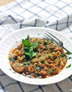 Spicy Slow Cooker Stuffed Cabbage Casserole 3