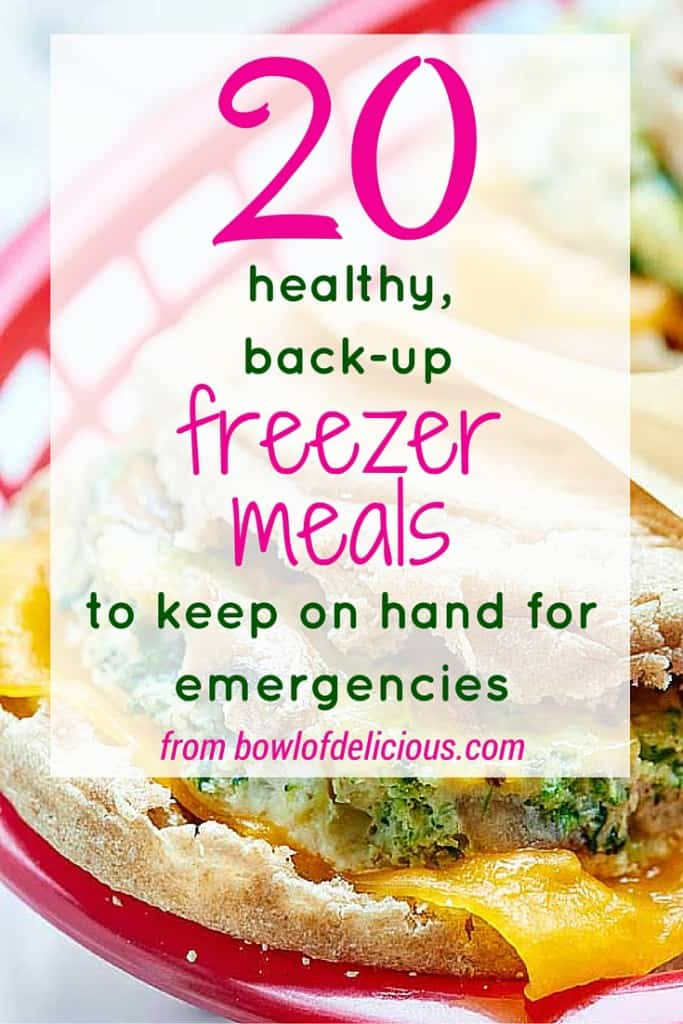 A list of healthy, real food meals you can keep in your freezer for those extra busy times in life that you just can't (or don't want to) cook.