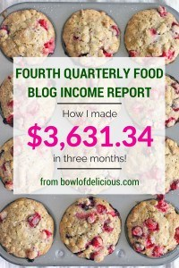 Fourth Quarterly Food Blog Income Report 3631.34