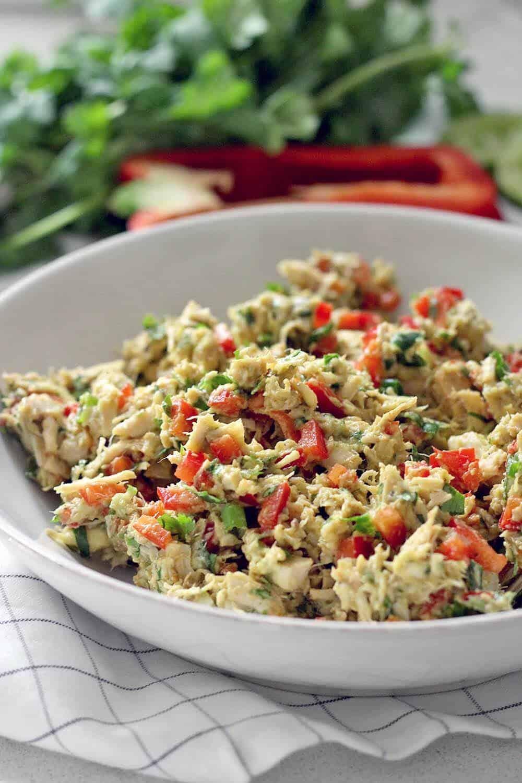 Fiesta Avocado Chicken Salad No Mayo Dairy Free Bowl Of Delicious