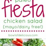 pinterest image for fiesta chicken salad