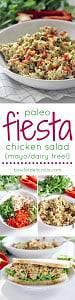pinterest image for fiesta chicken salad