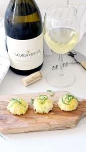 Oven Baked Goat Cheese Balls with Fresh Basil and Honey Gloria Ferrer 1