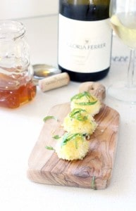 Oven Baked Goat Cheese Balls with Fresh Basil and Honey Gloria Ferrer 3
