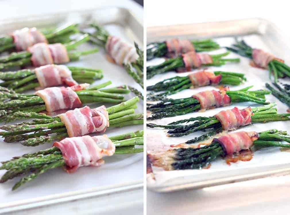 Bacon Wrapped Asparagus with Goat Cheese