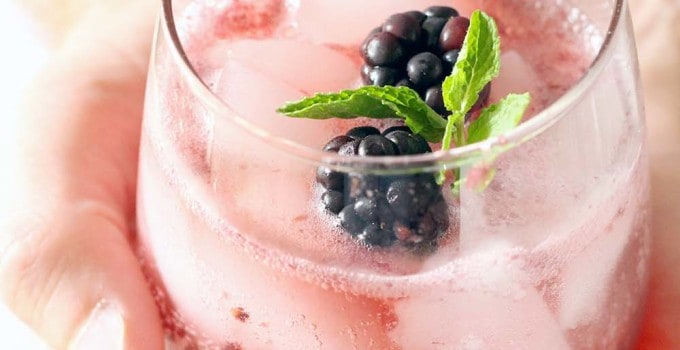 Honey Blackberry Mint Mocktails