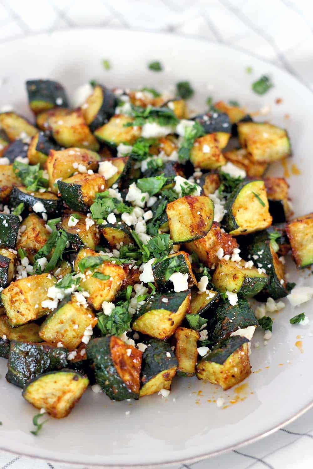 Mexican roasted zucchini a low carb side to any mexican dish a great alternative to rice and forumfinder Gallery