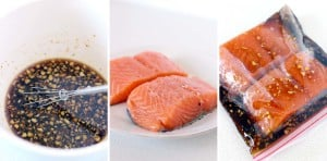 Teriyaki Salmon and Zucchini Noodle Bowls-2