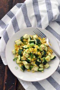 Lemon and Garlic Roasted Zucchini and Corn 3