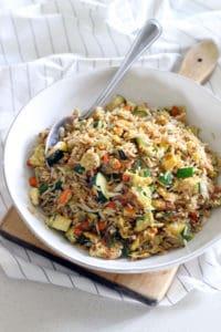 10 Minute Veggie Fried Rice 1