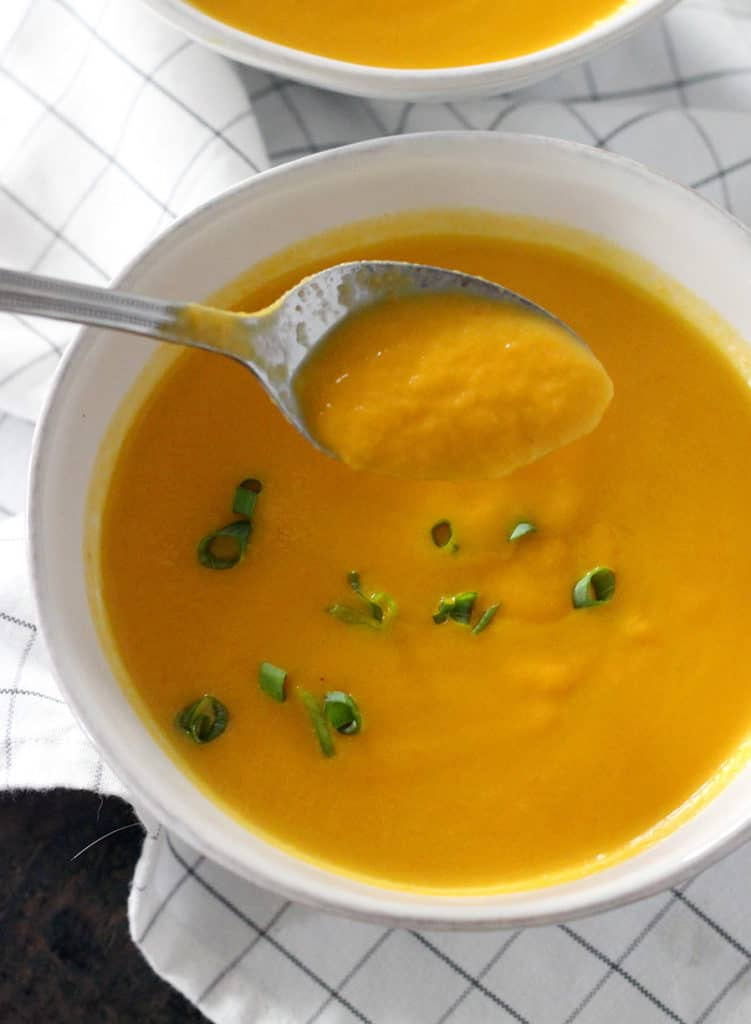 Carrot Ginger Soup (chilled or hot) | Bowl of Delicious